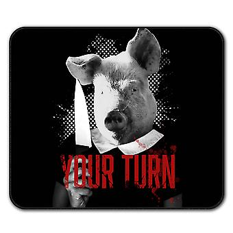 Your turn Beast  Non-Slip Mouse Mat Pad 24cm x 20cm | Wellcoda