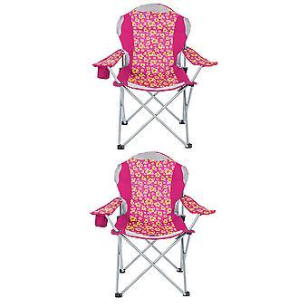 Yello pieghevole sedia a sdraio imbottite per campeggio, pesca o spiaggia - rosa