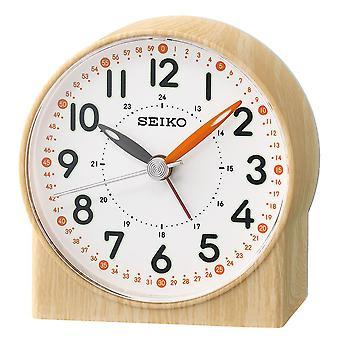 Seiko Orange Lumibrite budzik z drewna wzór sprawa Brown (QHE168Y)