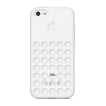 Apple MF039ZM/A silicone cover case, iPhone 5c in white
