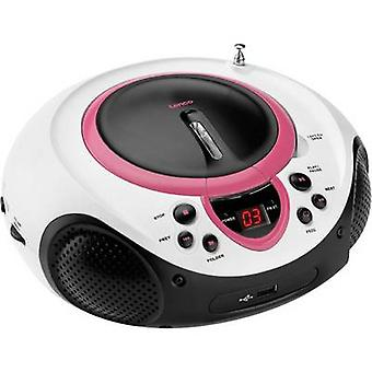 Lenco SCD-38 USB-FM Radio/CD AUX, CD, FM, USB-roze