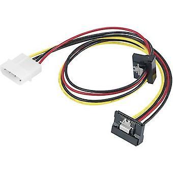 Adattatore di corrente Y Renkforce [1 x IDE alimentazione connettore 4 poli - 2 x SATA presa] 0,46 m nero, rosso, giallo