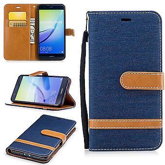 Torba dla Huawei P10 Lite pokrywa telefon komórkowy Etui ochronne sprawa ciemnoniebieskie