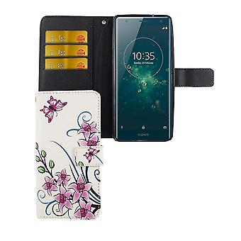 Mobile case bag for mobile phone Sony Xperia XZ2 Lotus Flower