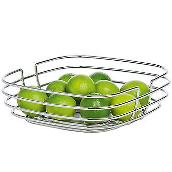 Fruit and vegetable basket basket steel wire chrome bread basket