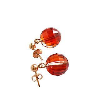 Spina di orecchio orecchini orecchino rosso cristallo elemento VOLTERRA placcato oro