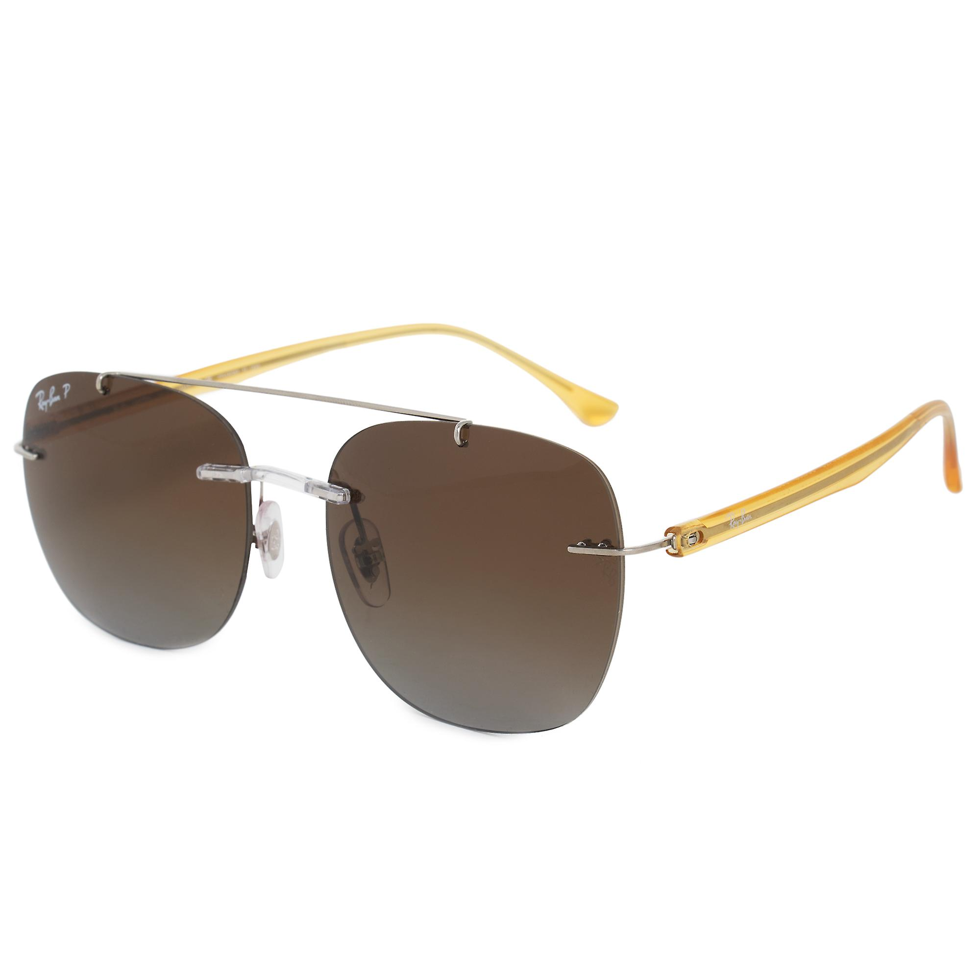 Ray-Ban Square Sunglasses RB4280 6288T5 55 | Silver Metal Frame | Polarized Brown Lenses