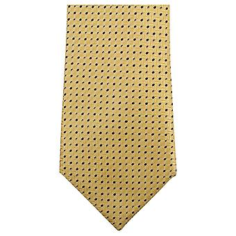 Knightsbridge Neckwear Dotted Tie - Yellow/Navy