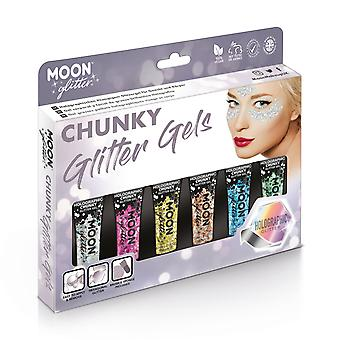 Holographic Chunky Face & Body Glitter Gel by Moon Glitter - 12ml - Boxset - Glitter Face Paint