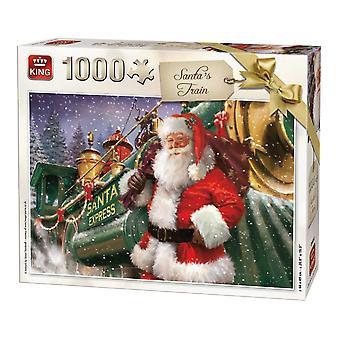 Rompecabezas de tren de King Santa (1000 piezas)