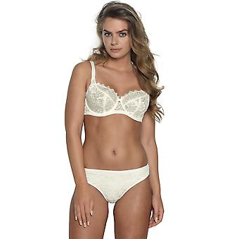 After Eden D-Cup & Up 20.20.5165 Women's Anna Lace Non-Padded Underwired Plus Size DD+ Support Full Cup Bra