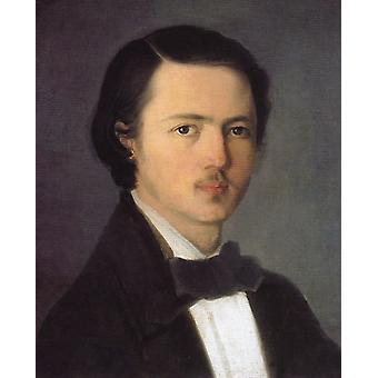 Self Portrait,Nicolae Grigorescu,50x40cm