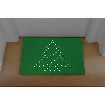 Polarlite PDE-05-002 Illuminated doormat Christmas Tree (doormat) Green LED (monochrome) Green