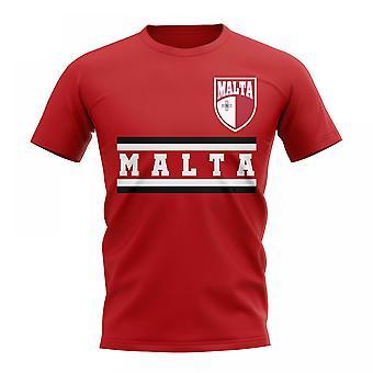 Malta Kern Fußball Land T-Shirt (rot)
