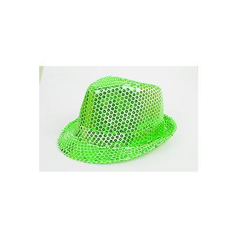 Hats Glitter hoed helder groen
