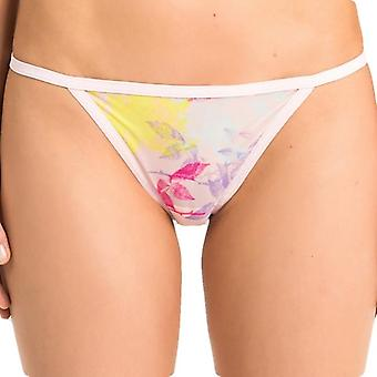 Calvin Klein Women SHEER MARQ Bikini Brief, Transparent Floral, Large