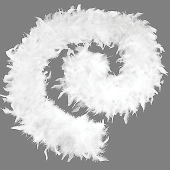Feather Boa 80g. White Budget