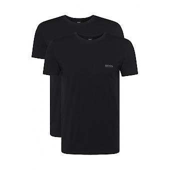 BOSS 2-Pack Regular-Fit Crew-Neck T-Shirts In Stretch Cotton, Black
