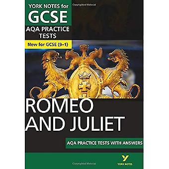 Romeo e Juliet AQA praticam testes: notas de York para GCSE (9 - 1) - notas de York (Paperback)