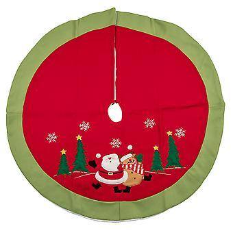 TRIXES 90cm gonna rosso bianco e verde albero di Natale decorativo coprire