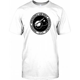 NASA Badge B&W - Space Exploration Kids T Shirt