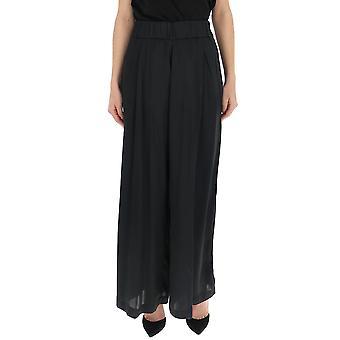 Semi-couture S9pn18y690 Women's Black Acetate Pants