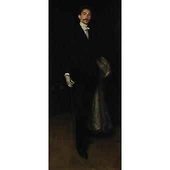 Robert, Comte de, James Abbott Mcneill Whistler, 80x34cm