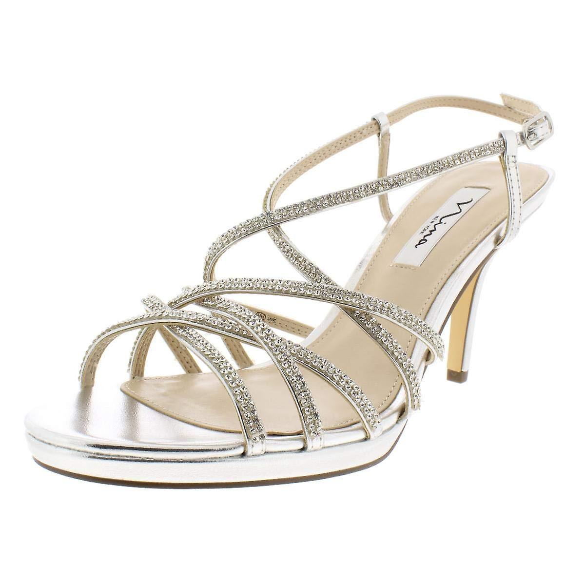 Nina Womens Vilma Open Toe Casual Strappy Sandals