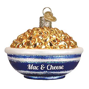 Old World Christmas Bowl of Mac and Cheese Holiday Ornament Glass