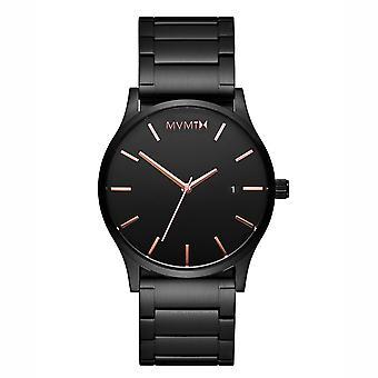 Montre de montre MVMT CLASSIC Black Rose pour homme acier inoxydable MM01-BBRG