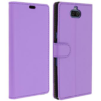 Slim Case, flip book cover, stand wallet case for Sony Xperia 10 Plus - Purple