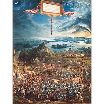 Die Schlacht am Issus, Albrecht Altdorfer, 50x38cm
