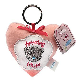 Me To You Mothers Day Keyring Plush Heart (Amazing Mum)