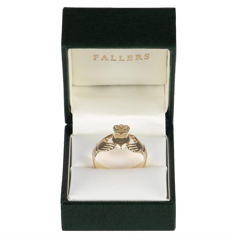Gents Medium Claddagh Ring in 14K Gold