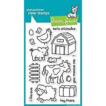 Lawn Fawn Clear Stamps Critters on the Farm (LF355)