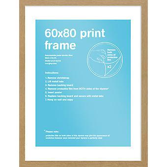 Eton encadrement chêne 60x80cm affiche / Print Frame