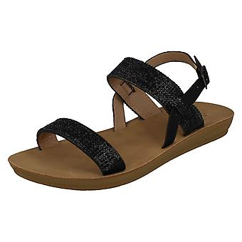 Ladies Savannah Diamante Sandals F00242