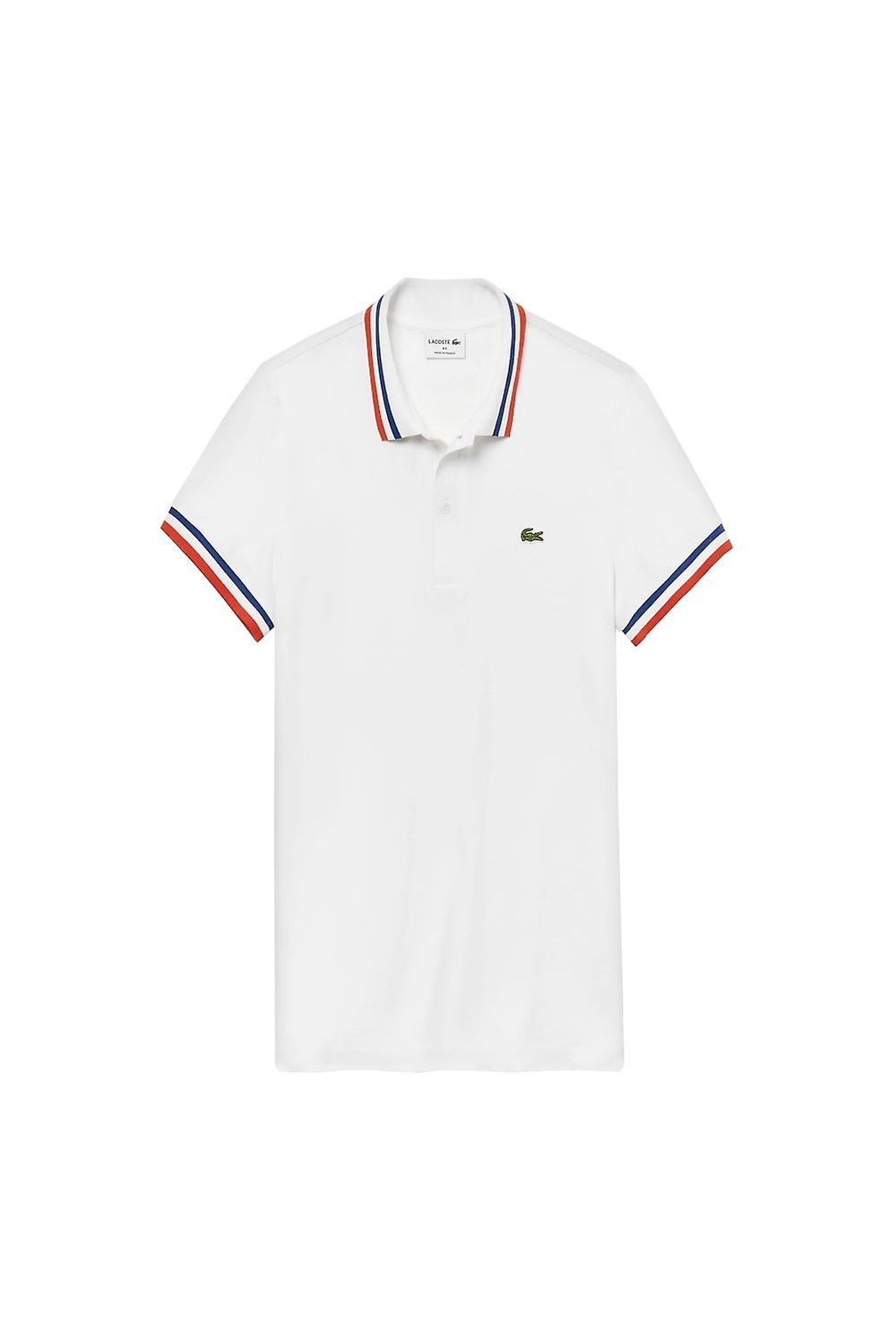 Lacoste Short Sleeved Ribbed Collar Polo Shirt White