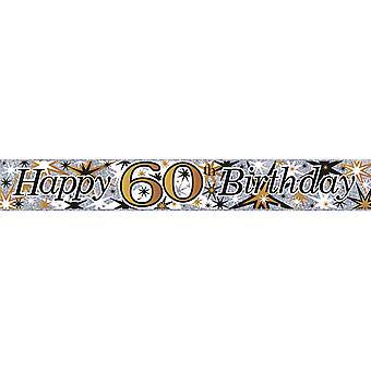Simon Elvin Age 60 Foil Banner (Pack Of 6)