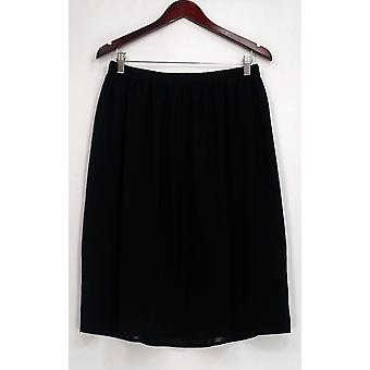 14TH & Union Skirt Elastic Waistband Layered Basic Black