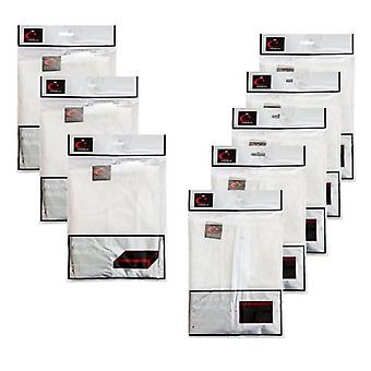 Peva Sweater Bags x5 & 3x Blanket Pack Moth & Mould Proof Bags di Caraselle