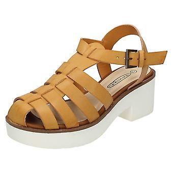 Ladies Spot On Platform Heel Gladiator Sandal F10169