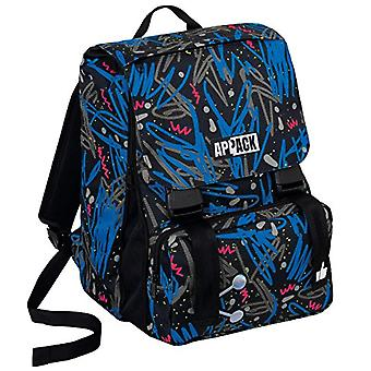 SCHOOL backpack ESTENSIBILE APPACK FANTASY - Black Blue 31Lt