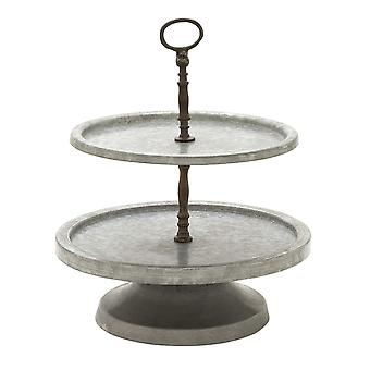 Amazingly useful metal 2 tier tray stand
