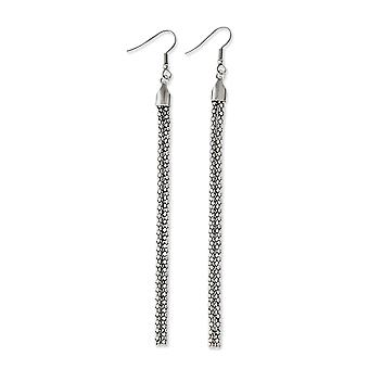 Stainless Steel Multi strand Shepherd hook Polished Long Drop Dangle Earrings Jewelry Gifts for Women
