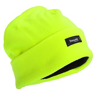 FLOSO Mens Hi Vis Thinsulate Thermal Fleece Winter Beanie Hat (3M 40g)