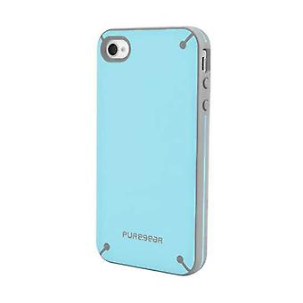 Funda Snap-on PureGear Slim Shell para Apple iPhone 4/4s - Blueberry Cream