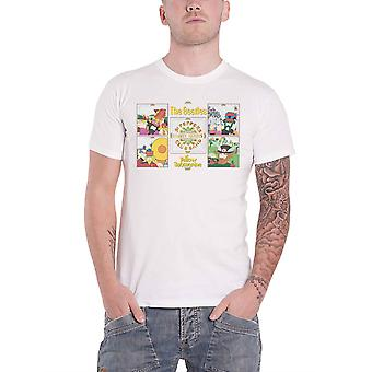 The Beatles T Shirt Yellow Submarine Sgt Pepper Band nouveau officiel Mens White