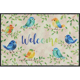 Salonloewe Doormat Lovely Birds 50 x 75 cm Lavable Dirt Mat
