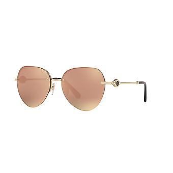 Bvlgari BV6108 20144Z Pink Gold/Grey Mirror Rose Gold Sunglasses